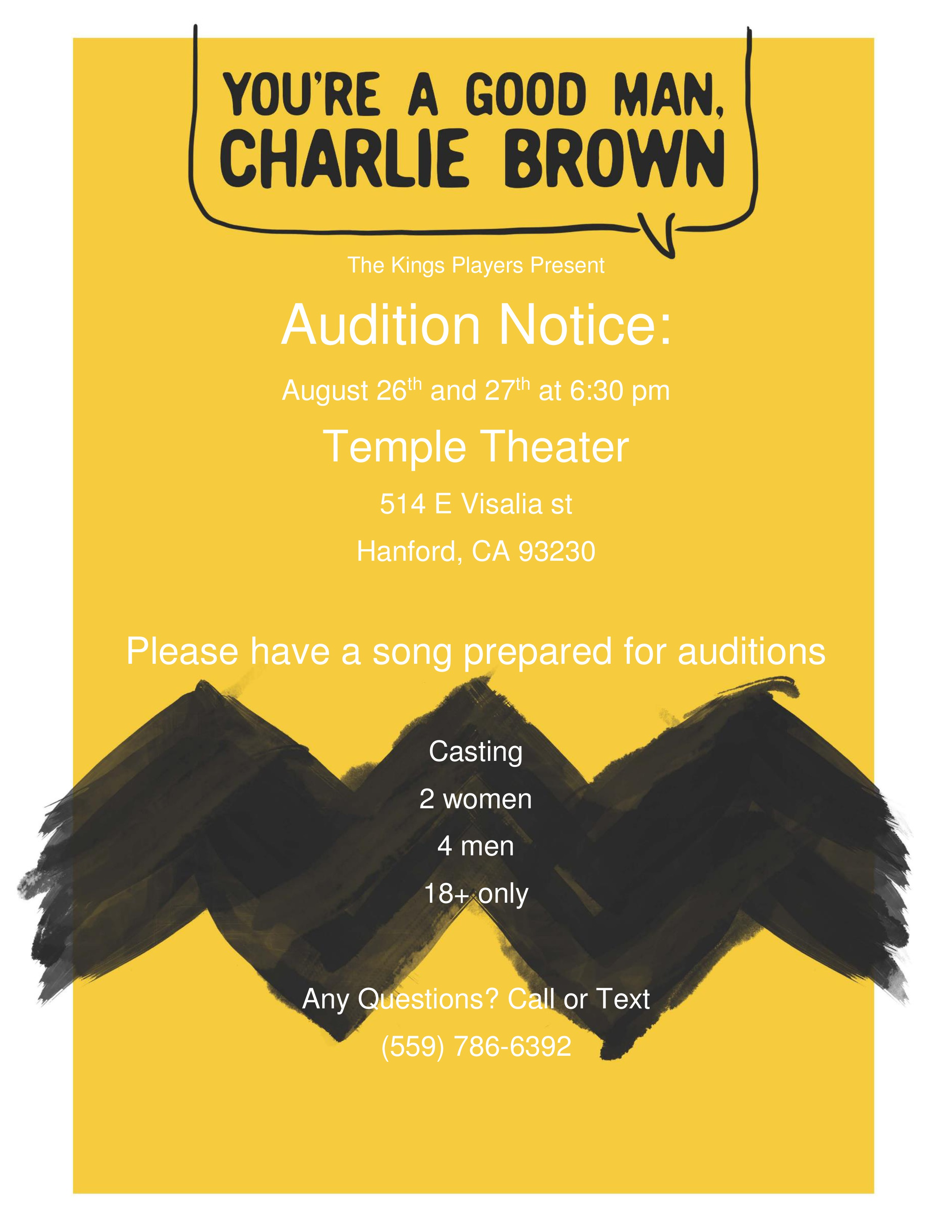 Charlie Brown audition flyer-page-0