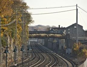 Railroad tracks that cut through Sing, Sing