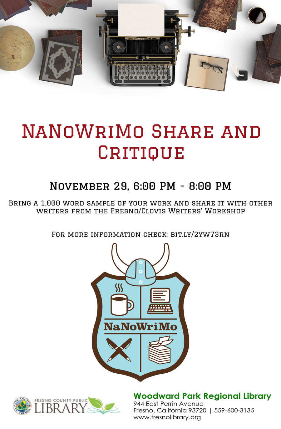 NaNoWriMo_Share_and_Critique_flyer