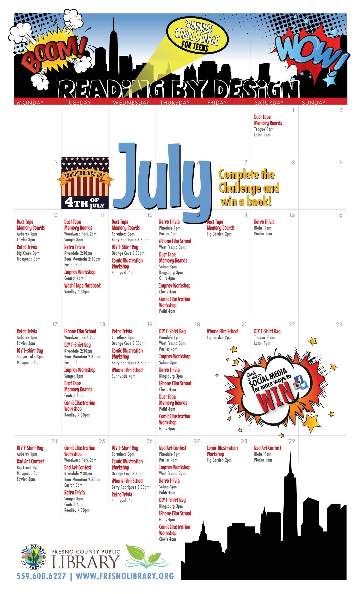Summer-Challenge-Calendar-Teens-2017-july