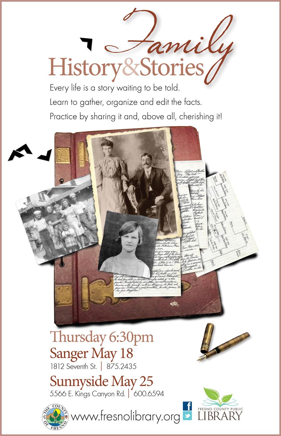 family-history-and-stories-sanger-sunnyside-poster