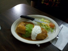 This chimichanga hides oodles of good stuff at Velasco's Mexican Restaurant in Sanger