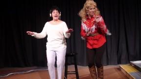 Sylvia Garoian (Patsy Cline) and Susan Mathews (Louise)
