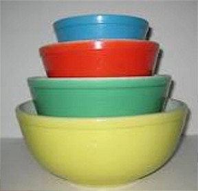 dating pyrex mixing bowls Mixing bowls measuring cups about the pyrex brand with brightly colored pieces that included nesting bowls and casserole dishes with designs that were.