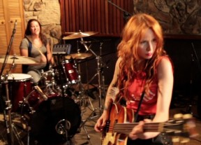 Paloma Estevez on drums and Elle Neil on bass