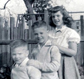 1954, first day of third grade for me, kindergarten for Bill, and little brother Eddie (3)