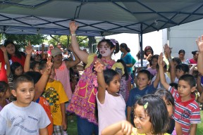 Crissy the Clown entertains the children