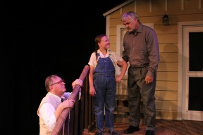 Boo Radely (GRAG RUUD) proves to be an invaluable neighbor to Atticus (CHRIS CARSTEN) and Scout (CHELSEA NEWTON).