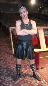 Terry in the Rocky Horror Show at the Tower Theater