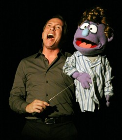 Terry as Rod in Avenue Q with Fourth Wall