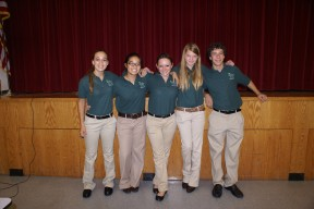 Fresno County 4-H All-Stars who organized the training event. L to R - Samantha Golden, Aubrey Furakawa, Kylie Colvard, Kristy Pahel and Tristan Rollin