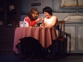 Left to right: Susan Mathews as Louise Seger and Sylvia Tajerian Garoian as Patsy Cline