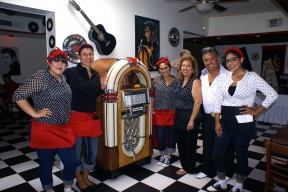 The Kings Diner staff and owners, ready to serve you. L to R - Rylee Barraze, Yvonne Mora, Valeria Taboada, owners Virginia Enriquez and Vance Enriquez, and Daisy Alvarado.