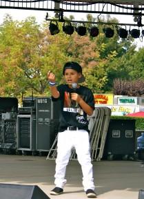 "Dominik Morales sings a Justin Bieber song, ""Boyfriend."""