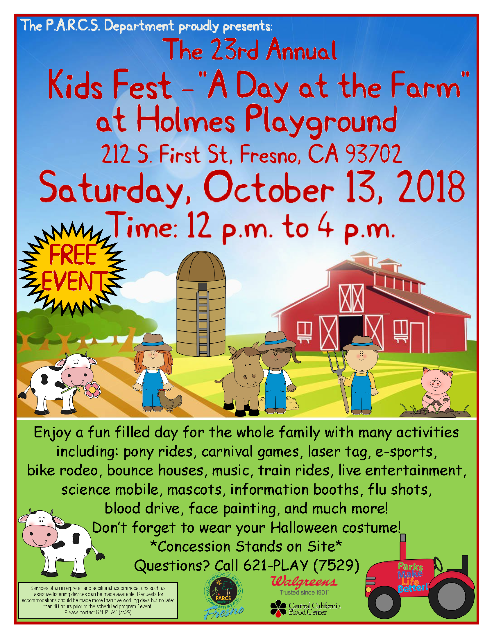 23rd Annual Kids Fest - A Day at the Farm Flyer-1