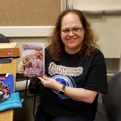 author Gabrielle Harbowy at the Bookwyrm convention