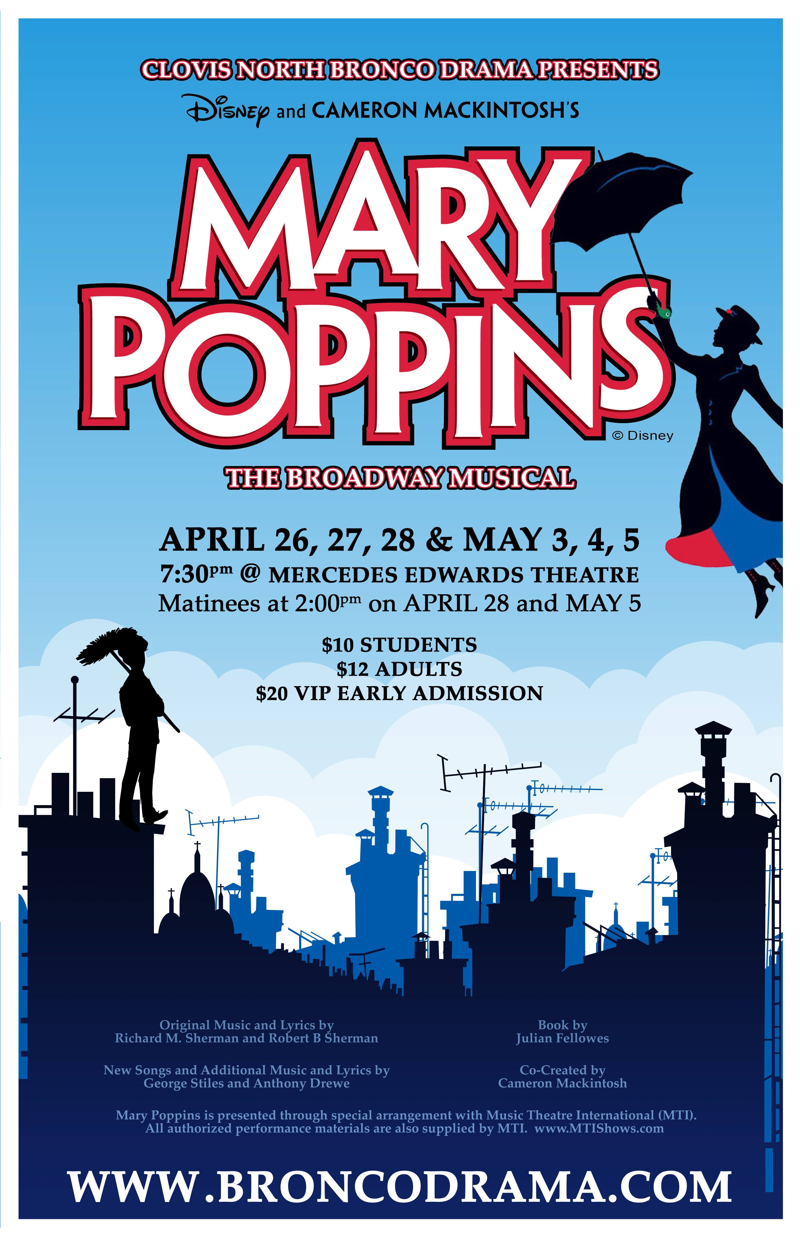 mary poppins theatre