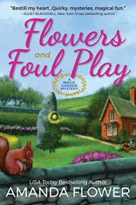 flowers and foul play mystery book cover