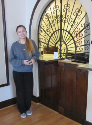 front desk at hotel burgess