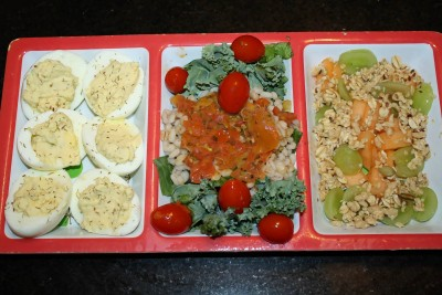 Some of the recipes in the book-Deviled Eggs, Kale Barley Salad, Grape Granola