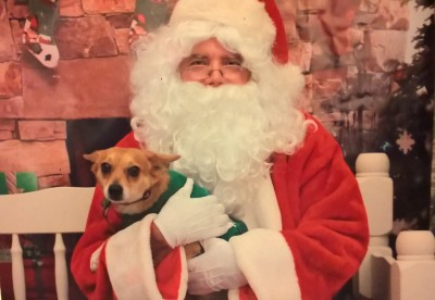 Paco with Santa
