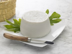 ricotta is very fresh cheese from cow or sheep milk (it lasts only one day)