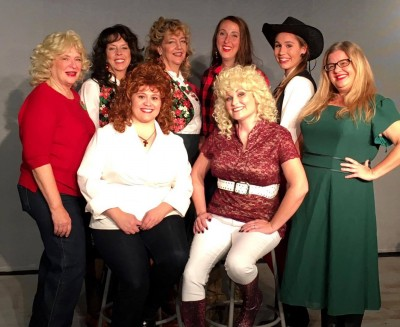 Ladies Back Row From Left to Right Cyndie Maxwell as Barbara Mandrell, Kim Spicer as Louise Mandrell, Debra Garske as Irlene Mandrell, Rebecca Reynolds as Martina McBride, Jill Burton as Trisha Yearwood and Bethany Reynolds as Suzy Bogguss From left Jennifer Toledo as Reba McEntire and Kristeina Wolfert as Dolly Parton