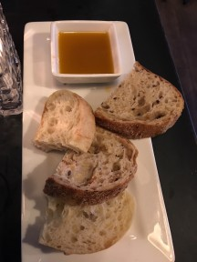 Breads and dipping sauce at Fugazzi's in Kingsburg. Oh, so good!