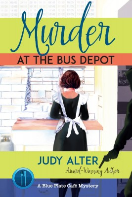 Murder at the Bus Depot mystery book cover