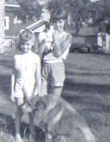 author with pets as a child
