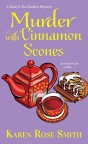 murder with cinnamon scones mystery book cover