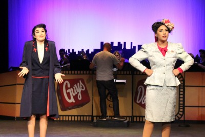 Sarah and Adelaide from Guys and Dolls