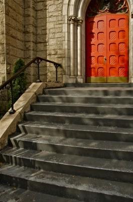 doorway and steps